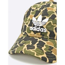 Adidas Originals - Czapka. Szare czapki z daszkiem męskie adidas Originals, z bawełny. W wyprzedaży za 99,90 zł.