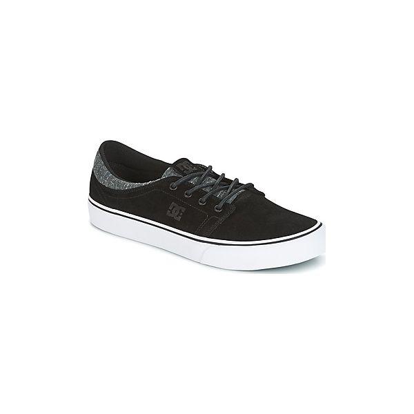 49d95ccacfc81 Buty DC Shoes TRASE LE - Czarne trampki męskie DC Shoes, bez wzorów ...