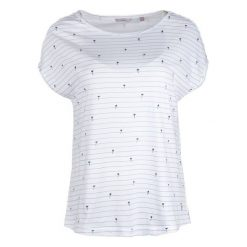 Mustang T-Shirt Damski Aop M Biały. Białe t-shirty damskie marki Mustang, m, w paski. W wyprzedaży za 89,00 zł.