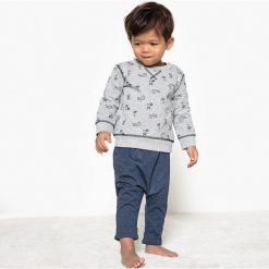 Bluzy niemowlęce: Wzorzysta bluza niemowlęca z okrągłym dekoltem – 1 miesiąc – 3 lata – Oeko Tex