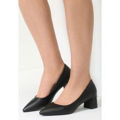 Buty ślubne damskie: Czarne Czółenka Bossa Nova