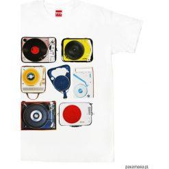 Koszulka GRAMOFONY 7. Czarne bluzki z odkrytymi ramionami marki Pakamera, m, z kapturem. Za 77,00 zł.