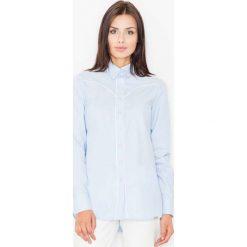 Bielizna damska: Błękitna Klasyczna Koszula z Lamówkami