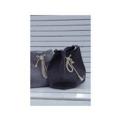 Torba worek CITY BAG tkaninowa. Szare torebki klasyczne damskie Intensi, z bawełny. Za 149,00 zł.