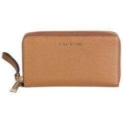 """Portfele damskie: Skórzany portfel """"Jet Set"""" w kolorze brązowym – 21 x 10 x 2,5 cm"""