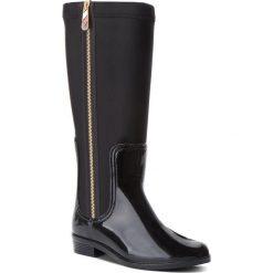 Kalosze TOMMY HILFIGER - Material Mix Long Ra FW0FW03564 Black 990. Czarne buty zimowe damskie TOMMY HILFIGER, z materiału. W wyprzedaży za 439,00 zł.