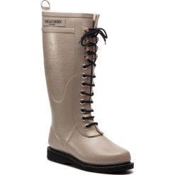 Kalosze ILSE JACOBSEN - RUB1 Atmosphere 149. Brązowe buty zimowe damskie marki Alma en Pena, z materiału, na obcasie. W wyprzedaży za 449,00 zł.