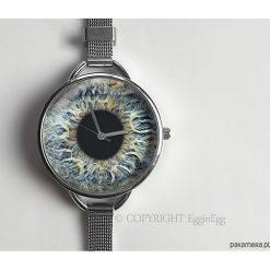Zegarek z dużą tarczką Źrenica - 0921WS. Szare zegarki damskie Pakamera, srebrne. Za 120,00 zł.