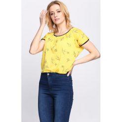 Bluzki, topy, tuniki: Żółty T-shirt Learn To Love Again