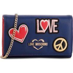Torebka LOVE MOSCHINO - JC5605PP17LJ0750  Blu. Niebieskie torebki klasyczne damskie Love Moschino, ze skóry ekologicznej. Za 529,00 zł.