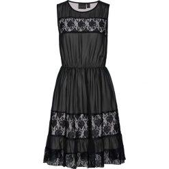 Sukienki hiszpanki: Sukienka koronkowa bonprix czarno-piaskowo-beżowy