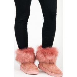 Buty zimowe damskie: RÓŻOWE MUKLUKI Autumn