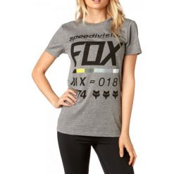T-shirty damskie: FOX T-Shirt Damski Draftr Ss Crew Xs Szary