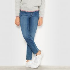 Proste krótkie dżinsy 10-16 lat. Szare spodnie chłopięce La Redoute Collections, z bawełny. Za 63,84 zł.