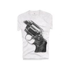 T-shirt UNDERWORLD Ring spun cotton Gun. Szare t-shirty męskie z nadrukiem marki Underworld, m, z bawełny. Za 59,99 zł.
