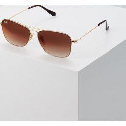 RayBan Okulary przeciwsłoneczne goldcoloured. Szare okulary przeciwsłoneczne męskie wayfarery marki Ray-Ban, z materiału. Za 679,00 zł.