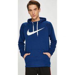 Nike - Bluza. Niebieskie bejsbolówki męskie Nike, l, z nadrukiem, z dzianiny, z kapturem. Za 219,90 zł.