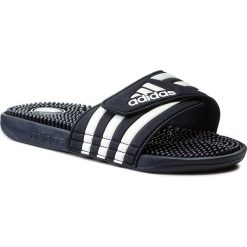 Klapki adidas - adissage 078261 N.Navy/N.Navy/Runwht. Czarne klapki męskie marki Adidas, z kauczuku. Za 149,00 zł.