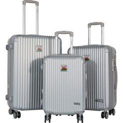 Walizki: Zestaw walizek w kolorze srebrnym – 3 szt.