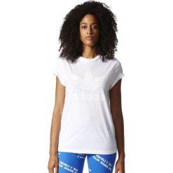 Adidas Originals Koszulka damska Graphic Tee biała r. 38  (BK2360). Szare topy sportowe damskie marki adidas Originals, na co dzień, z nadrukiem, z bawełny, casualowe, z okrągłym kołnierzem, proste. Za 120,54 zł.