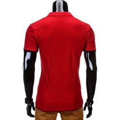 KOSZULKA MĘSKA POLO BEZ NADRUKU S758 - CZERWONA. Czerwone koszulki polo Ombre Clothing, m, z nadrukiem. Za 39,00 zł.
