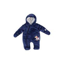 Salt and Pepper  Kombinezon zimowy plusz, blue - niebieski - Gr.Niemowlę (0 - 6 miesięcy). Niebieskie kombinezony niemowlęce marki Salt and Pepper, z materiału. Za 199,00 zł.