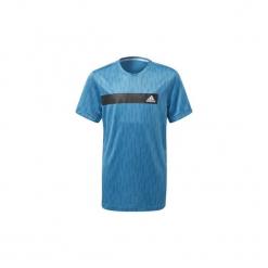 T-shirty z krótkim rękawem Dziecko  adidas  Koszulka Train Cool. Niebieskie t-shirty chłopięce z krótkim rękawem marki S.Oliver, z nadrukiem, z bawełny. Za 99,95 zł.