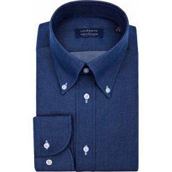 Koszula Granatowa Boulevard. Niebieskie koszule męskie na spinki LANCERTO, l, z bawełny, button down. Za 299,00 zł.