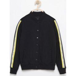 Bluzy dziewczęce rozpinane: Bluza z dwustronnymi cekinami na plecach - Czarny