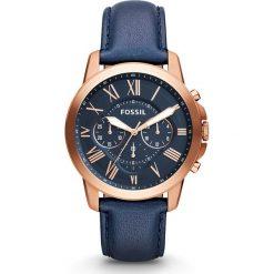 Zegarek FOSSIL - Grant FS4835 Blue/Rose Gold. Różowe zegarki męskie marki Fossil, szklane. Za 699,00 zł.
