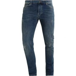 Topman Jeansy Slim Fit blue. Niebieskie rurki męskie Topman. W wyprzedaży za 156,75 zł.