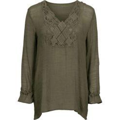 Bluzki damskie: Długa bluzka bonprix oliwkowy