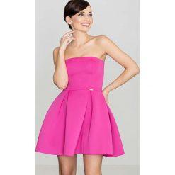 Różowa Wieczorowa sukienka Gorsetowa. Różowe sukienki balowe marki numoco, l, z dekoltem w łódkę, oversize. Za 135,90 zł.