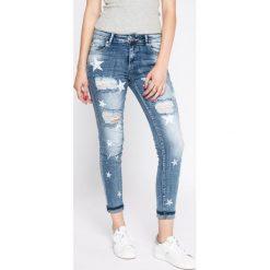 Answear - Jeansy. Szare jeansy damskie rurki marki ANSWEAR, l, z poliesteru, z długim rękawem, długie. W wyprzedaży za 79,90 zł.