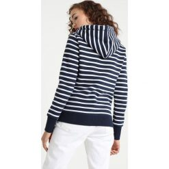 Bluzy damskie: Superdry STATE ATH STRIPE ZIPHOOD Bluza rozpinana optic/navy