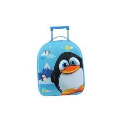 BAYER CHIC 2000 Bouncie Walizka - Pingwin, 40 cm - niebieski. Czarne walizki marki Jack Wolfskin, w paski, z materiału, małe. Za 129,00 zł.