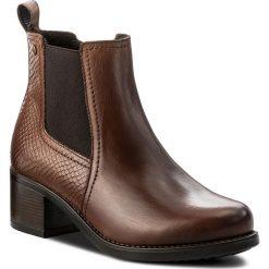 Botki LASOCKI - MELITA-02L Brązowy. Brązowe buty zimowe damskie Lasocki, z materiału, na obcasie. Za 229,99 zł.