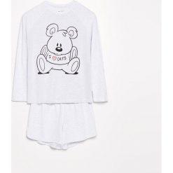 Dwuczęściowa piżama - Jasny szar. Szare piżamy damskie Reserved, l. Za 79,99 zł.