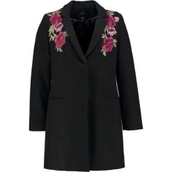 Płaszcze damskie pastelowe: Cortefiel COAT EMBRODERY FLAP Płaszcz wełniany /Płaszcz klasyczny black