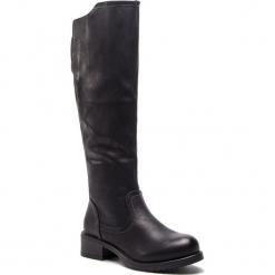 Oficerki JENNY FAIRY - WS16357-16 Czarny. Czarne buty zimowe damskie marki Kazar, ze skóry, na wysokim obcasie. Za 139,99 zł.