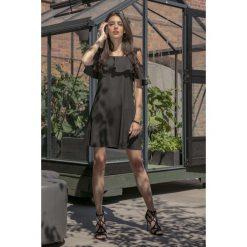 Czarna Wyjściowa Luźna Sukienka z Odkrytymi Ramionami. Niebieskie sukienki balowe marki Reserved, z odkrytymi ramionami. Za 149,90 zł.