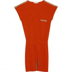 Sukienka kasmzirowa w kolorze jasnobrązowym. Brązowe sukienki na komunię marki Ateliers de la Maille, na imprezę, z kaszmiru, midi, proste. W wyprzedaży za 385,39 zł.