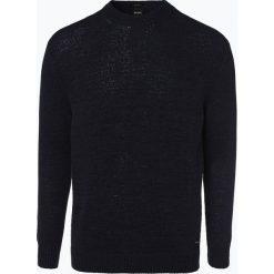Swetry klasyczne męskie: BOSS Casual - Sweter męski – Alyteip, niebieski