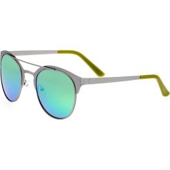 """Okulary przeciwsłoneczne męskie: Okulary męskie """"Phoenix"""" w kolorze srebrno-niebiesko-zielonym"""