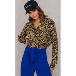Koszule wiązane damskie: Motel Rocks Koszula Disam – Brown,Multicolor