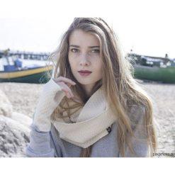 Szaliki męskie: komin / cream wool
