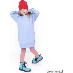 TUNIKA HOODIE - błękit. Niebieskie sukienki dziewczęce z falbanami Pakamera, z bawełny. Za 95,00 zł.