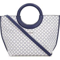 Torebki i plecaki damskie: Biało granatowa torebka damska