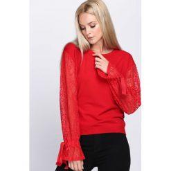 Swetry klasyczne damskie: Czerwony Sweter Waste Away