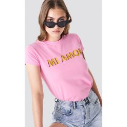 T-shirty damskie: Trendyol T-shirt Mi Amor - Pink